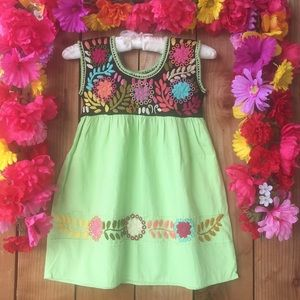 Other - CLEARANCE Mexican Hand Embroidered Dress Size 3T